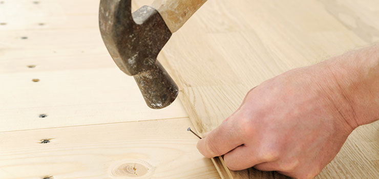 Blind Nailing Hardwood Floors at a 45-Degree Angle