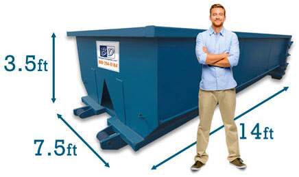 10 Yard Dumpster Costs Dimensions Capacity Budget Dumpster