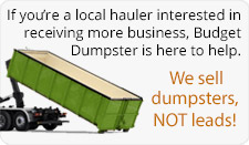 Become a Hauler With Budget Dumpster