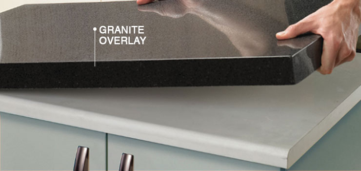 Budget-friendly Granite Overlay Being Added to Countertop