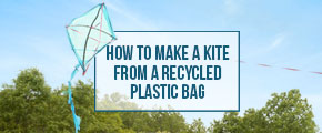 How to Make a Plastic Bag Kite Infographic