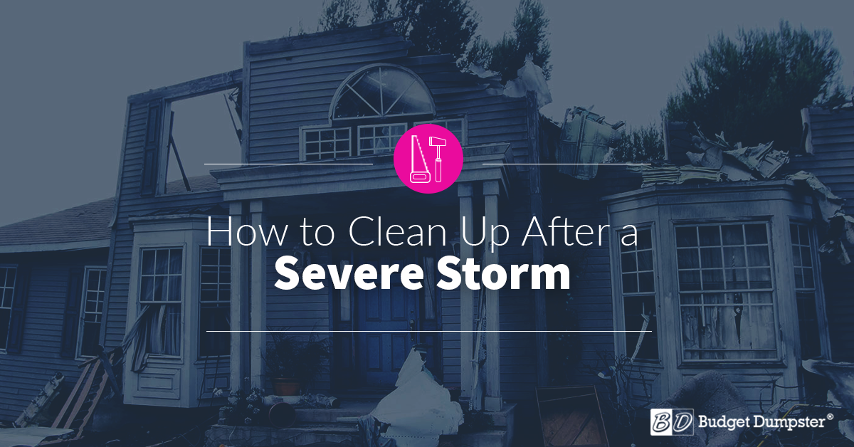 How To Clean Up After A Storm Budget Dumpster
